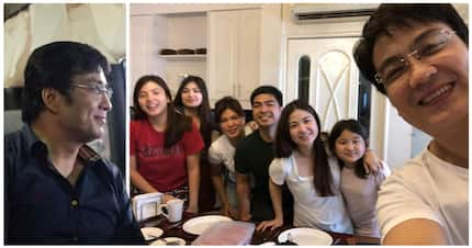 "Ramon ""Bong"" Revilla shares a photo with his family, expresses joy of eating breakfast with them"