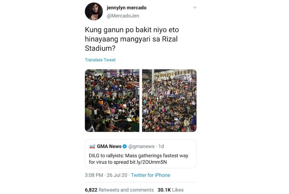 Jennylyn Mercado chides DILG for reminding SONA rallyists about mass gatherings
