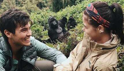 Erwan Heussaff, prinotektahan si Anne Curtis mula sa gorilla na lumapit sa kanila!