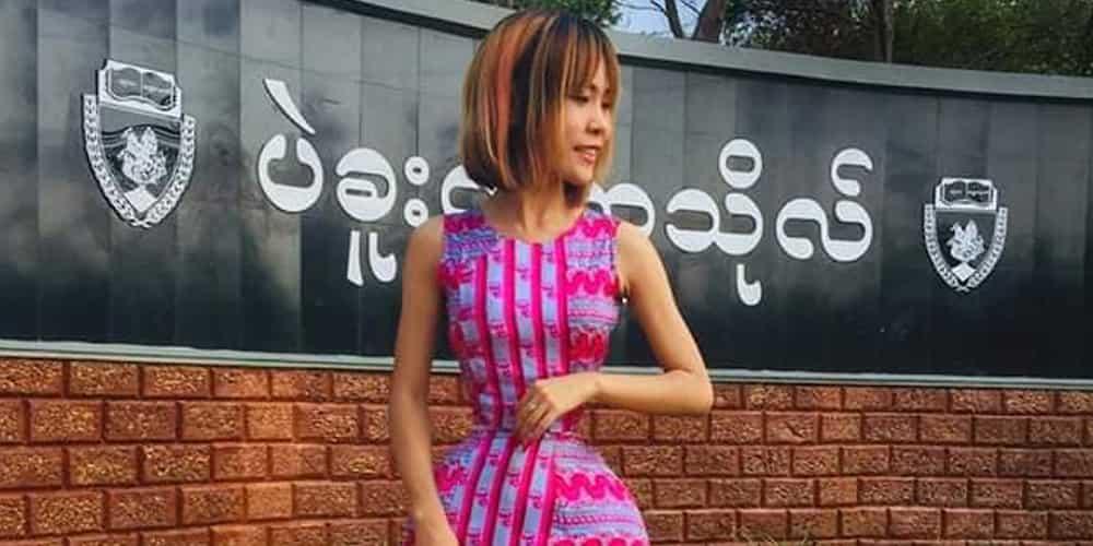 Slim na slim talaga! Babaeng may napakaliit na bewang, kinagiliwan ng netizens