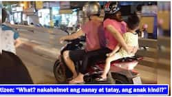 Picture of a family riding a motorcycle elicits online condemnation