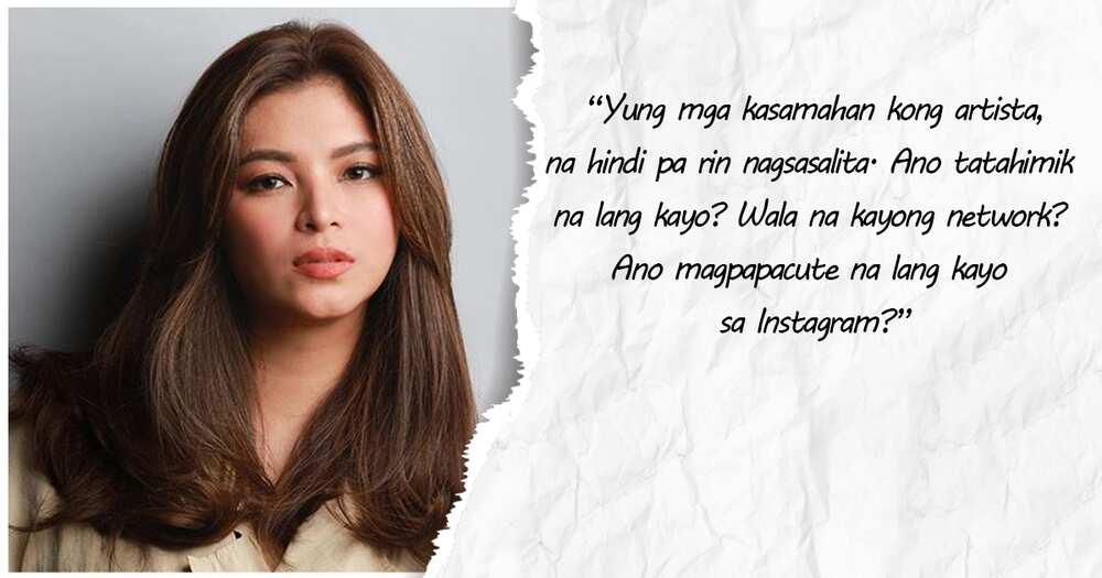 Angel Locsin, sinupalpal ang mga kasamahang tahimik sa isyu ng ABS-CBN franchise