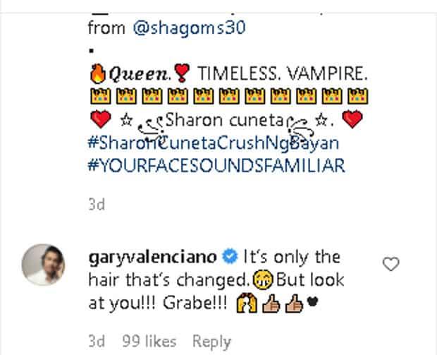 """Gary Valenciano, nawindang sa pagka ala-bampira ni Sharon Cuneta: """"Look at you!"""""""
