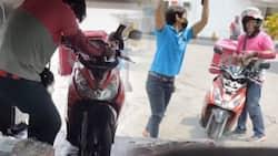 Rider na naligaw sa NLEX, tinulungan at pinasakay ng lalaki sa kanyang kotse