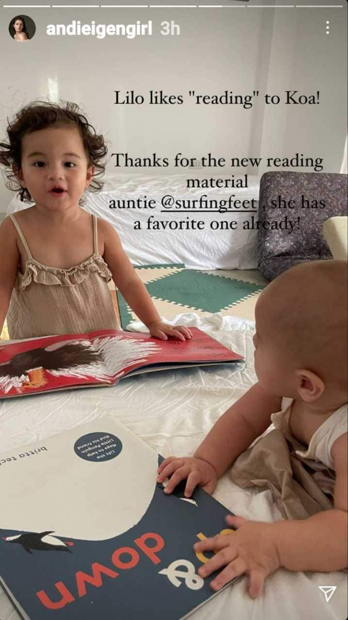 Andi Eigenmann posts about baby Lilo and baby Koa's recent bonding moment