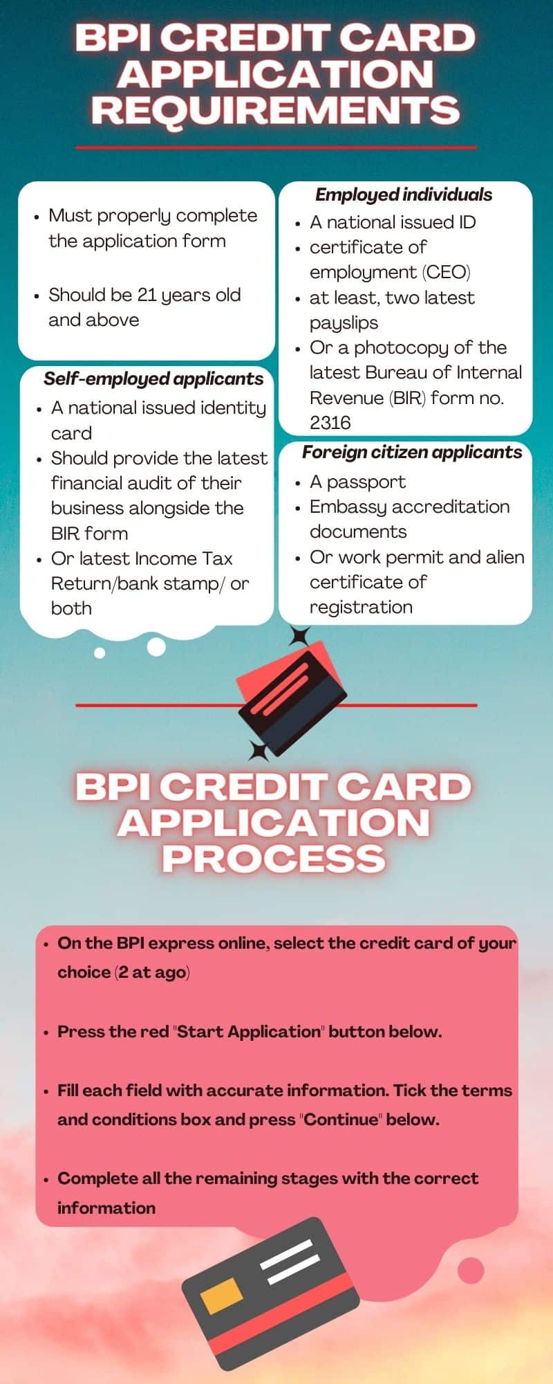 BPI credit card application