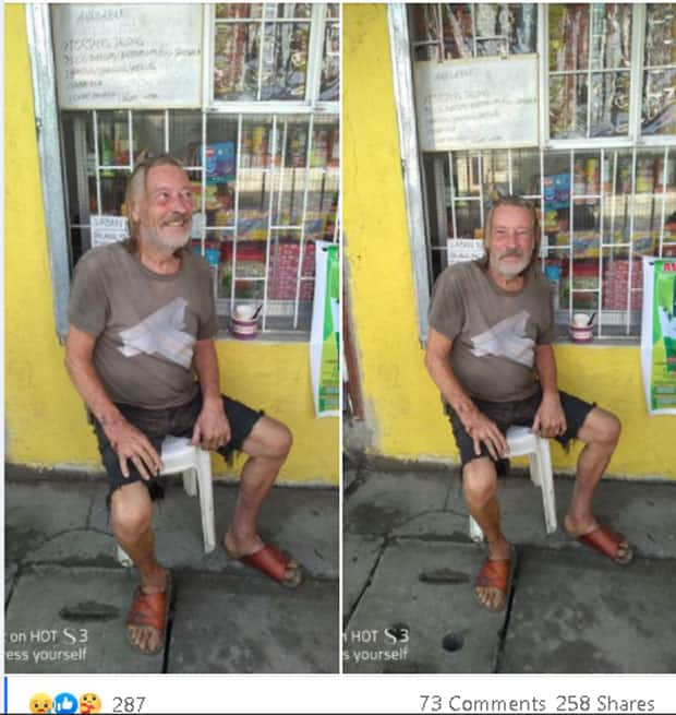 75-year-old British lives in the streets of Laguna after wife left him for unknown reason