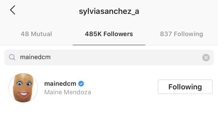 Maine Mendoza, Sylvia Sanchez now following each other on IG; netizens react