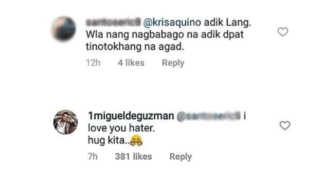 """JM de Guzman, sinagot ang isang 'hater' na nagsabing """"dapat tinotokhang na agad"""" siya"""