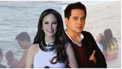 Happy family! Ellen Adarna and John Lloyd Cruz spotted in the beach with baby