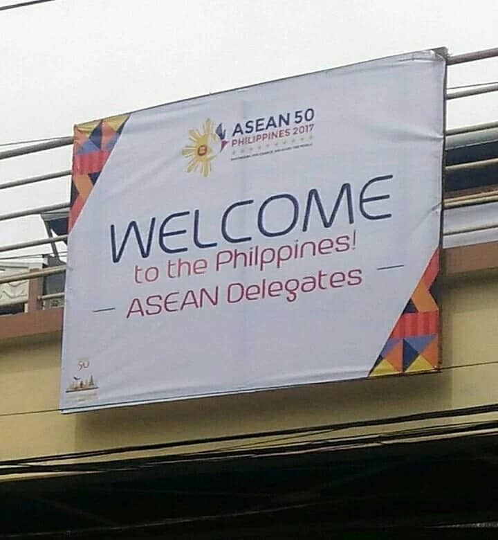 """VIRAL: Welcome tarps for ASEAN misspelled """"Philippines"""""""
