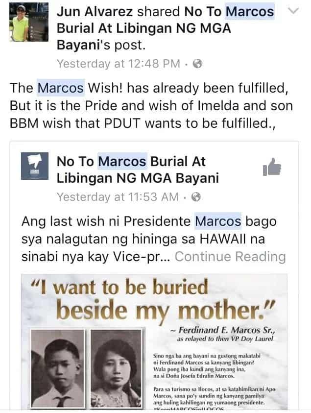 Ilocanos urge Duterte to let Marcos' remains stay in Ilocos