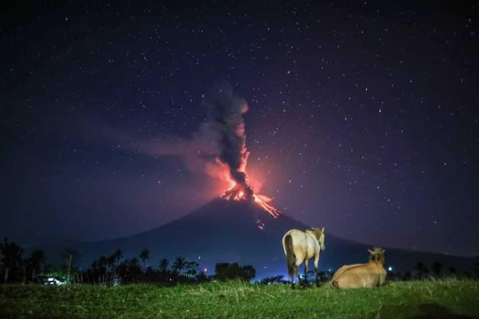 Mt. Mayon exhibits majesty despite its fury
