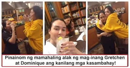 Inuman session with kasambahay! Gretchen Barretto and Dominique Cojuangco give expensive wine to their house helpers