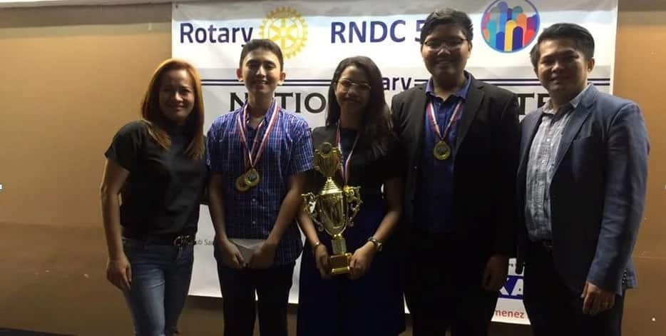 La Sallian debaters shine in Rotary National Debate Competition on commercialization of indigenous cultures