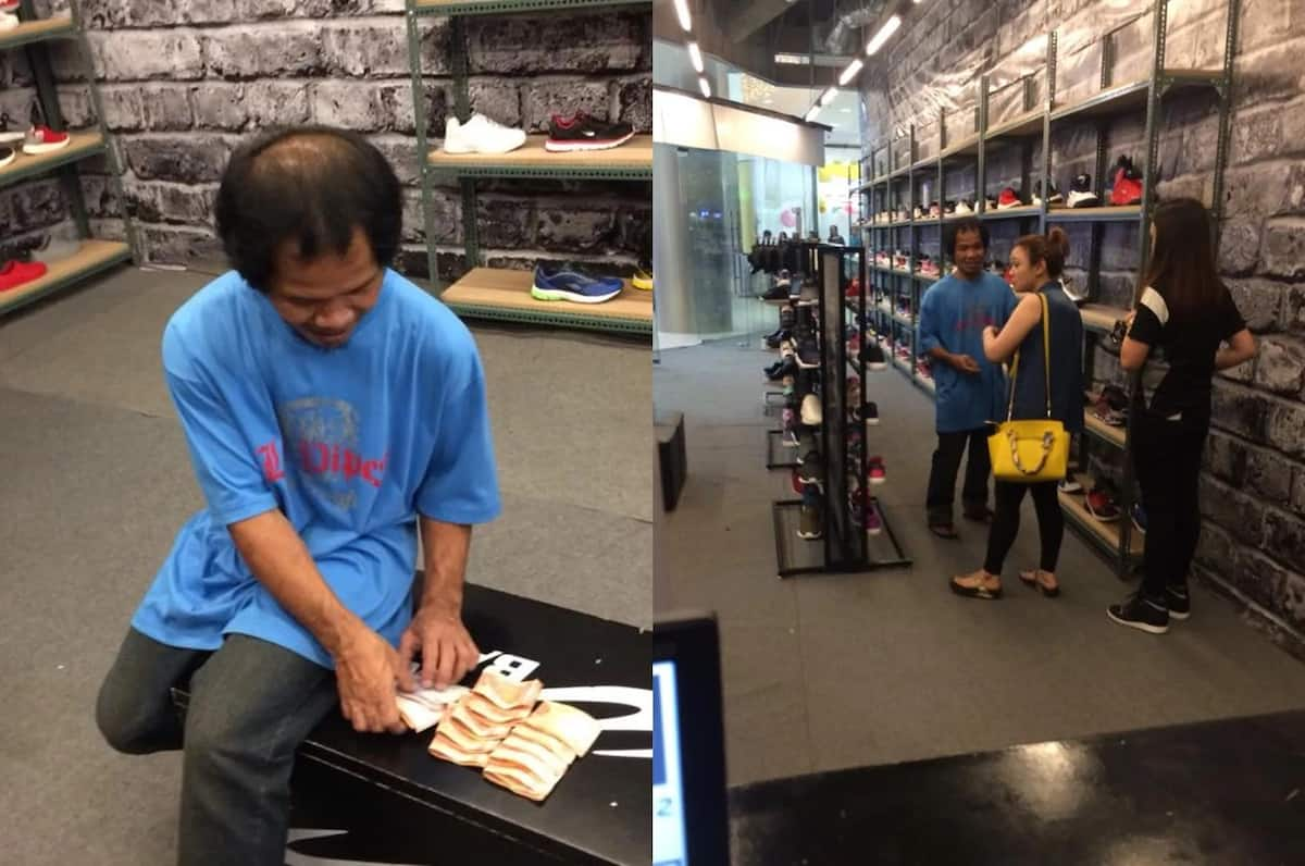 Old man buys himself new shoes as present with hard-earned money goes viral
