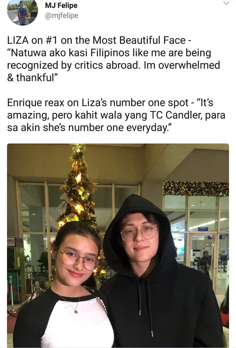 Consistent siya! Enrique Gil says Liza Soberano is always number one even without TC Candler