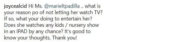 """Bawal kahit cartoons! Netizens react on Mariel Padilla's """"No TV"""" policy with baby Isabella"""