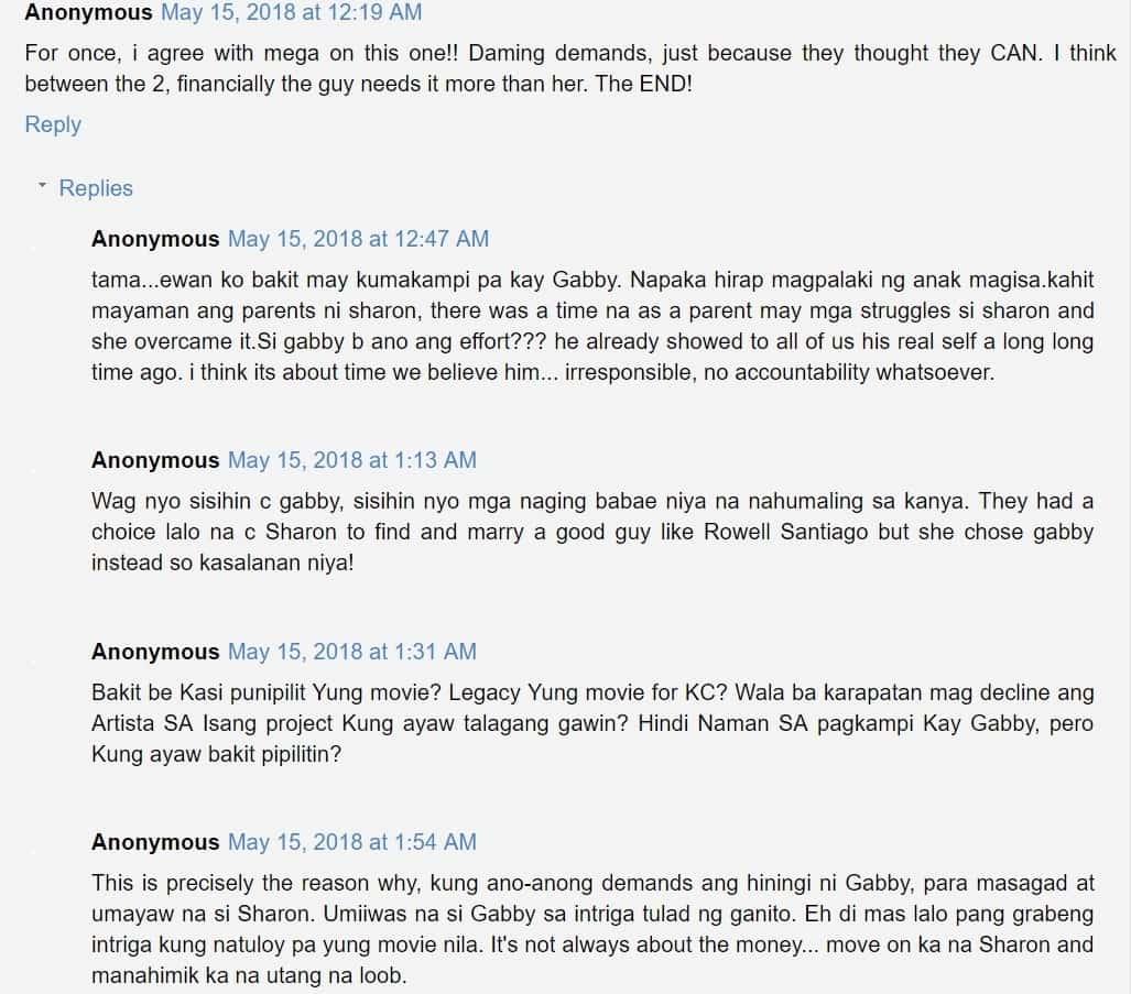 Ito pala ang dahilan! Sharon Cuneta finally reveals reason why she quit movie with Gabby Concepcion