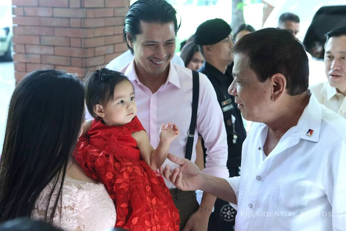 President Duterte is now Robin Padilla's kumpare after being named Baby Isabella's ninong