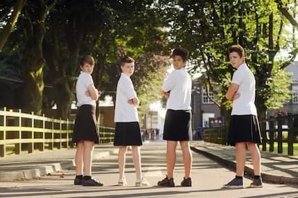 LOOK: School boys in UK are allowed to wear skirts to class!
