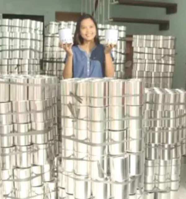 Mas malaki ang kinita dahil sa mga lata! Pinay OFW shares her success story in just selling labeled cans that became an instant craze