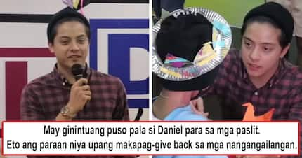 Pagtulong na walang kapalit! Daniel Padilla's feed day is one family tradition he does to give back to children blessings he has received