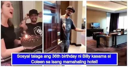 Bongga talaga! Billy Crawford celebrates his 36th birthday with Coleen Garcia at a luxurious hotel