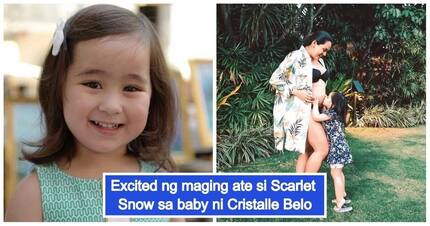 Scarlet Snow Belo is already in love with her baby nephew-before he is even born!