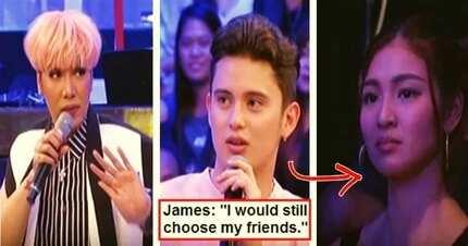 James Reid told Vice Ganda that he would choose his friends over GF Nadine Lustre! Fans were disappointed: 'Nawala ang kilig ni Nadine sa sagot mo'