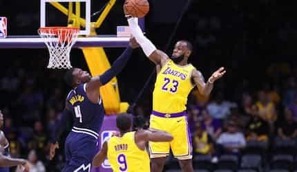 Lebron James, bumida sa laban ng LA Lakers at Denver Nuggets