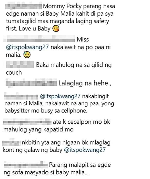 Mahuhulog na raw si Malia! Netizens think Pokwang's eldest daughter is being inattentive to Baby Malia