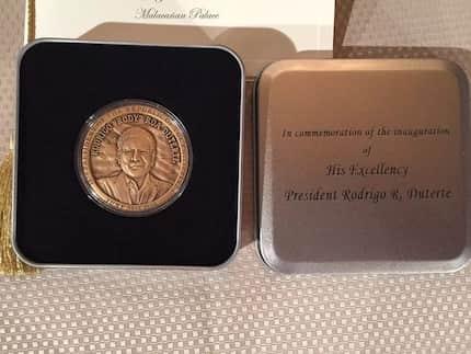 LOOK: Duterte's commemorative coin