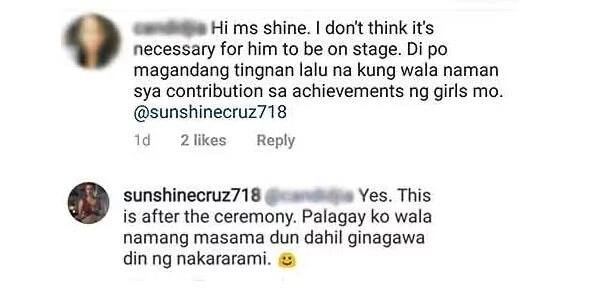 Sunshine Cruz responds to netizens who criticized Macky Mathay's appearance at her daughters' school ceremonies