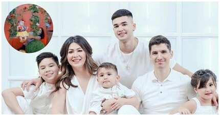 Mga nakakatuwang behind the scenes ng mga picture-perfect family photo ng mga sikat