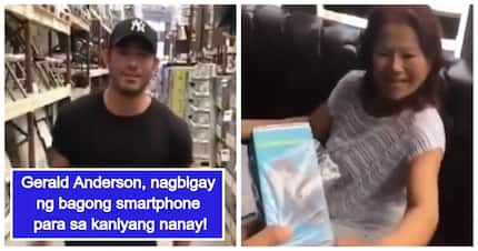 Mapagmahal na anak! Gerald Anderson gives smartphone to his beloved mother