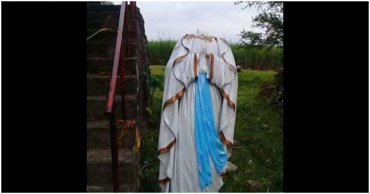 Ulo ng imahen ng Birheng Maria sa Negros Occidental, pinag-interesan daw at ninakaw