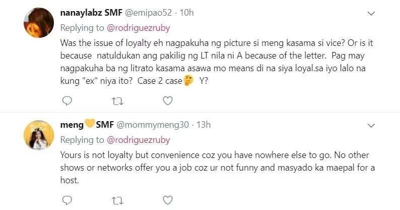 "Hala! Na-bash ng bongga! Ruby Rodriguez strikes back on netizens who links her ""loyalty"" post to Maine Mendoza"