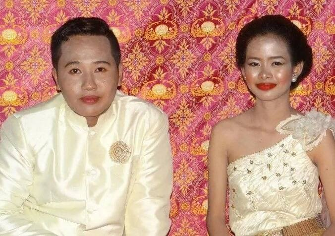 Pinag-tripan ng makeup artist? A bride who had the worst look on her wedding day goes viral