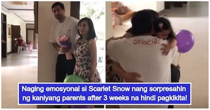 Scarlet Snow gets emotional seeing Hayden Kho & Vicki Belo again after 3 weeks of being apart
