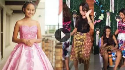 Badjao Girl didn't forget her roots on her 14th birthday as she performed these for her guests!