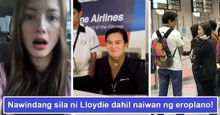 Naiwan daw sila ng eroplano! Ellen Adarna tries to sweet-talk PAL's staff as she and John Lloyd fail to catch their flight
