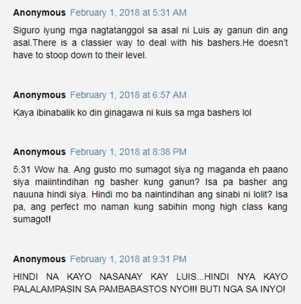 Netizens starting to lose respect for Luis Manzano with each rude rant