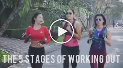 Isabelle Daza creates an accurate and funny video on what really happens when you work-out