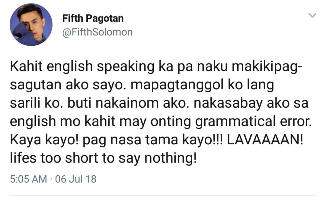 Sinech itey? Fifth Solomon expresses anger to a male celebrity's mom