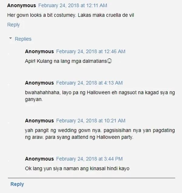 Netizens criticize black wedding gown of Vaness del Moral