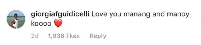 May malasakit talaga! Sarah Geronimo receives touching message from Matteo Gudicelli's sister