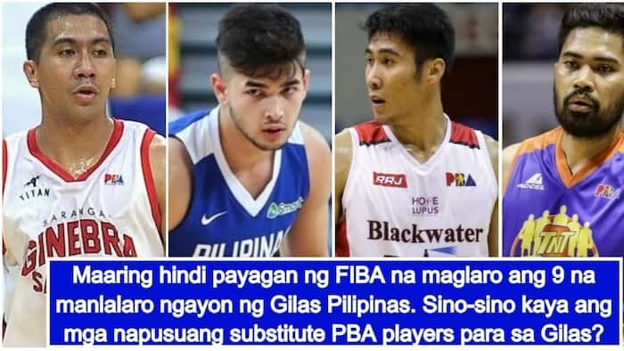 Kilalanin! 17 possible substitute players if FIBA bans the 9 current players of Gilas Pilipinas