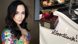 Waiters gave a 'good luck' dessert to Mariel Padilla due to the most adorable reason