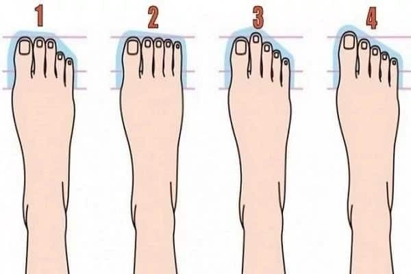 Find out what shape of your feet reveals about your personality